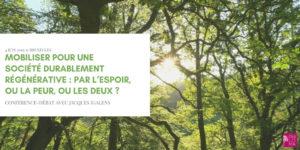 Une Société Durablement Régénérative avec Jacques Igalens